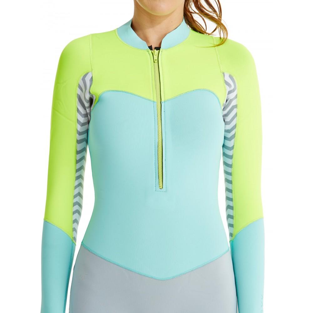 Womens 2mm XY Front Zip Long Sleeve Springsuit Wetsuit ARJW403011 Roxy