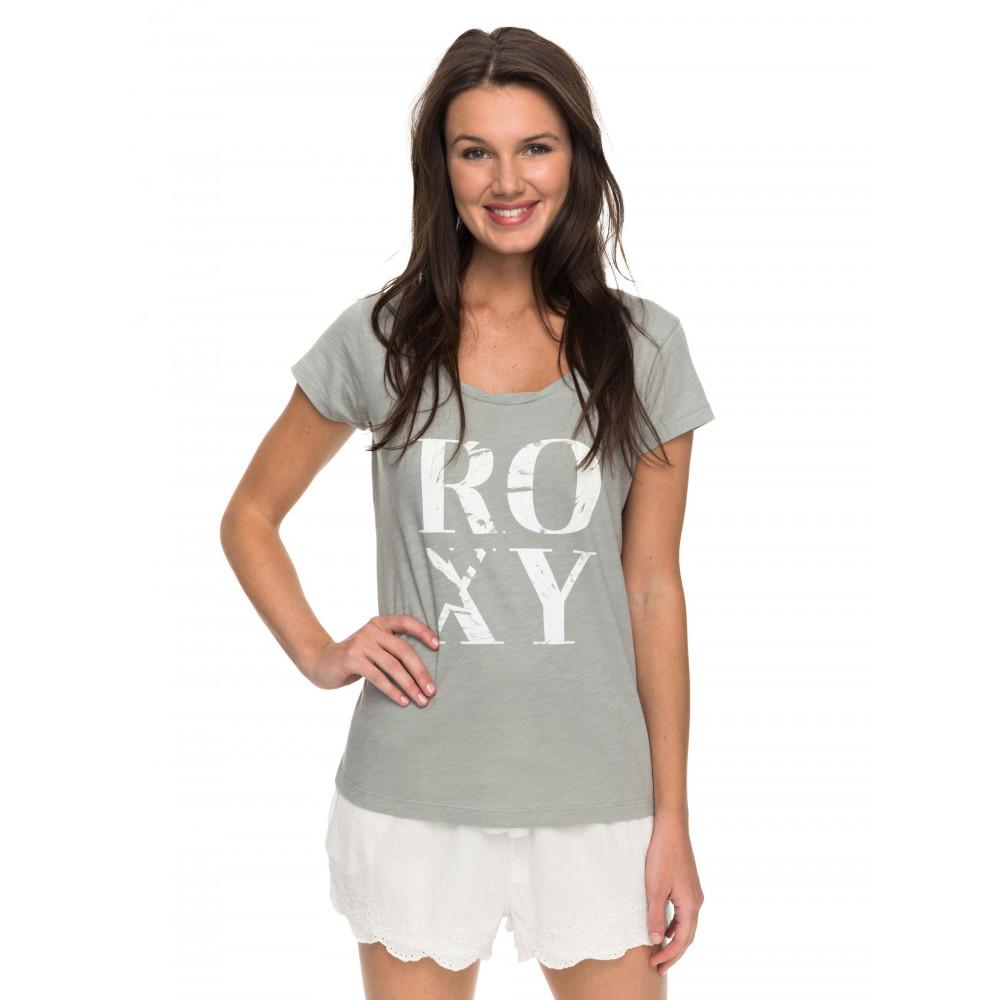 Womens Bobby Twist Palm Typo T Shirt ERJZT04122 ROXY