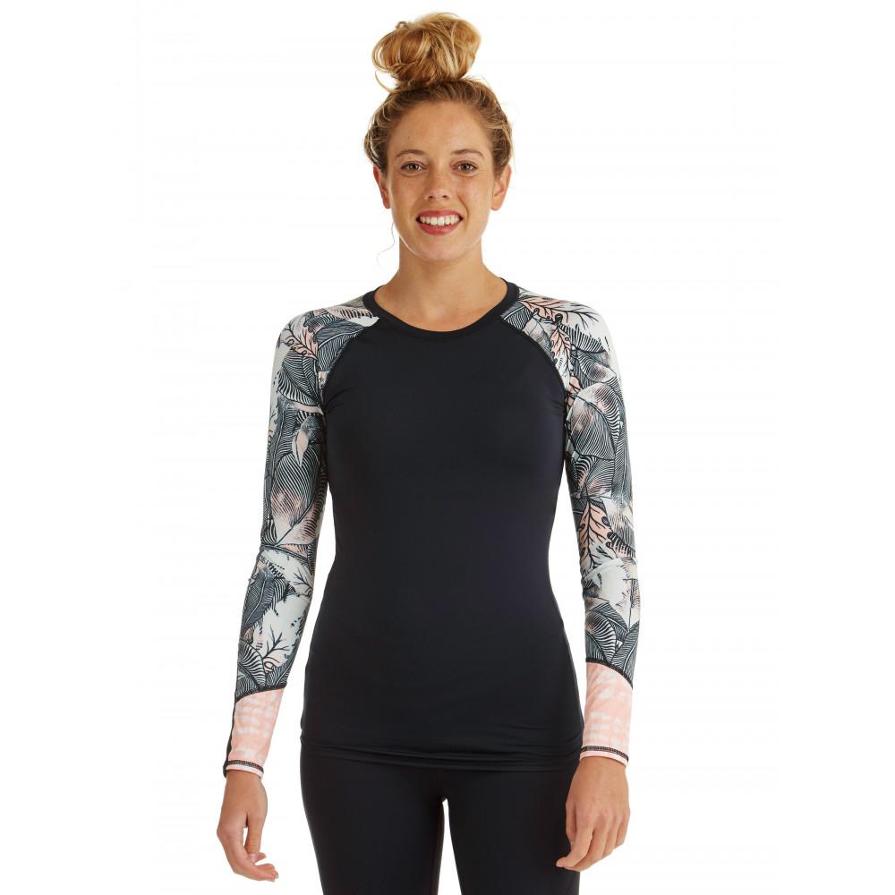 Womens Strappy Love Long Sleeve Rash Vest